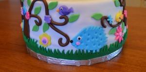 owl cake hedgehog
