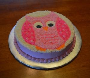 pink owl smash cake2