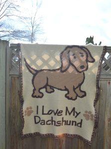 i love my dachshund afghan 3