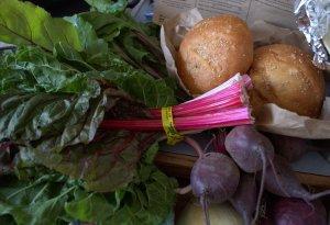 chard rolls beets
