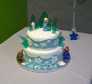 frozen 2 tier cake elsa