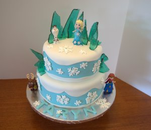 frozen cake 2 tier layer cake elsa