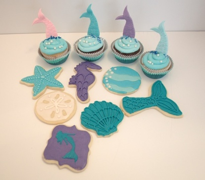 Under the Sea Cookies and Cupcakes