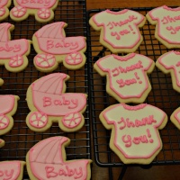 Baby Shower Cookies - Baby Buggy and Onesie