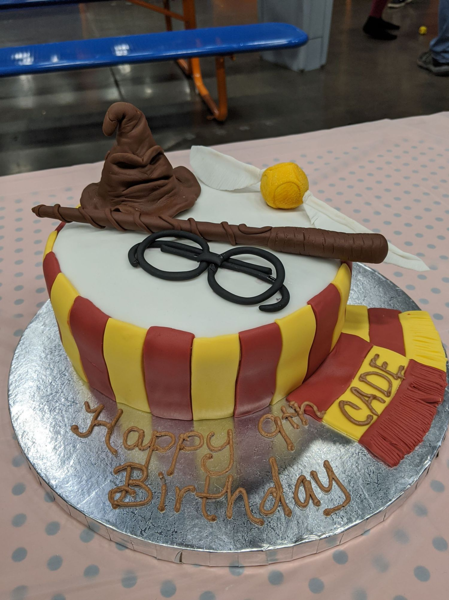 Stupendous Harry Potter Gryffindor Birthday Cake A Little Of This And A Funny Birthday Cards Online Alyptdamsfinfo